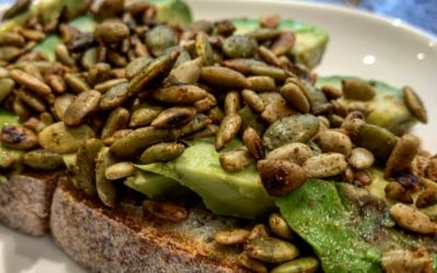 Avocado Toast with Spicy Seeds